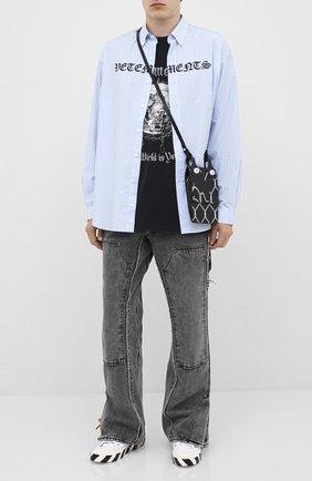 Мужская хлопковый лонгслив VETEMENTS черного цвета, арт. UAH21TR612 1611/M   Фото 2