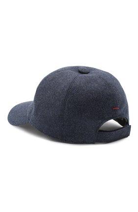 Мужской шерстяная бейсболка BRUNELLO CUCINELLI синего цвета, арт. M038P9978 | Фото 2