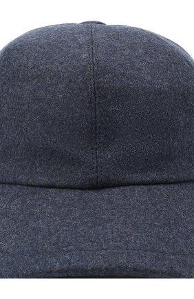 Мужской шерстяная бейсболка BRUNELLO CUCINELLI синего цвета, арт. M038P9978 | Фото 3