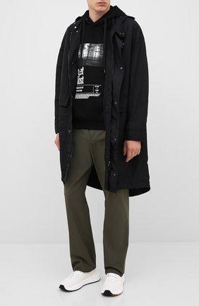 Мужской худи NEIL BARRETT черного цвета, арт. PBJS677S/P543S | Фото 2