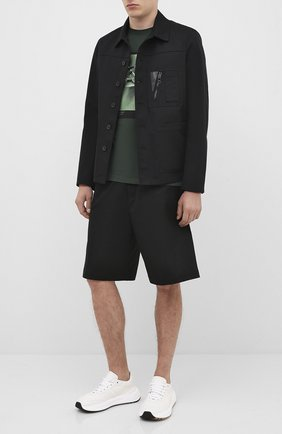 Мужская хлопковая футболка NEIL BARRETT темно-зеленого цвета, арт. PBJT815S/P532S | Фото 2