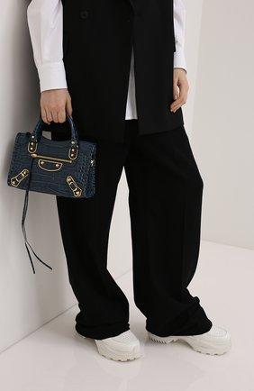 Женская сумка metallic edge BALENCIAGA синего цвета, арт. 390160/1R06G | Фото 2