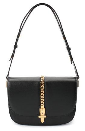 Женская сумка sylvie 1969 GUCCI черного цвета, арт. 601067/1DB0X | Фото 1