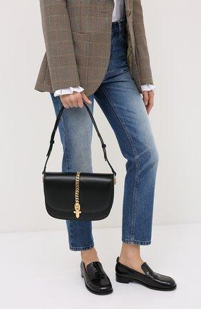 Женская сумка sylvie 1969 GUCCI черного цвета, арт. 601067/1DB0X | Фото 2