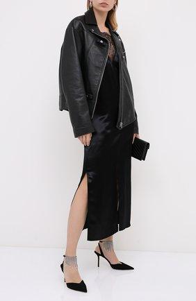 Женская замшевые туфли birtie 85 JIMMY CHOO черного цвета, арт. BIRTIE 85/DRS | Фото 2