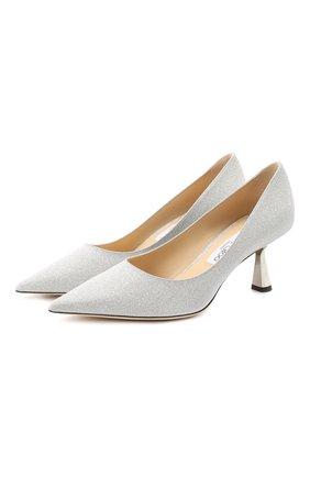 Женская текстильные туфли rene 65 JIMMY CHOO серебряного цвета, арт. RENE 65/XGC | Фото 1