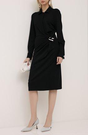Женская текстильные туфли rene 65 JIMMY CHOO серебряного цвета, арт. RENE 65/XGC | Фото 2