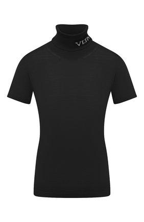 Женская шерстяной пуловер VALENTINO черно-белого цвета, арт. UB3KC16F5NU   Фото 1
