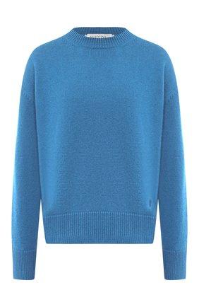 Женская кашемировый свитер VALENTINO голубого цвета, арт. UB3KCB395MJ   Фото 1