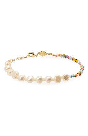 Женская браслет  pearly alaia ANNI LU разноцветного цвета, арт. 201-10-12 | Фото 1