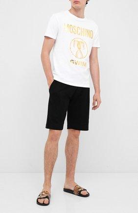 Мужская хлопковая футболка MOSCHINO белого цвета, арт. V1910/2303 | Фото 2