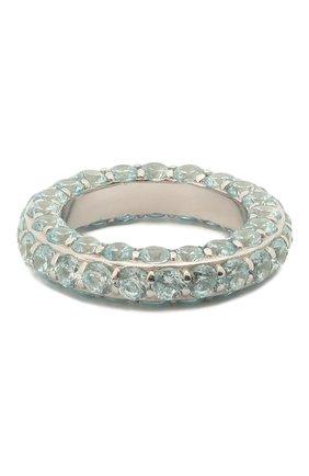 Женское кольцо LEVASHOVAELAGINA голубого цвета, арт. alyona/r | Фото 1