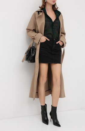 Женские кожаные ботильоны lexi SAINT LAURENT черного цвета, арт. 620157/1N800 | Фото 2