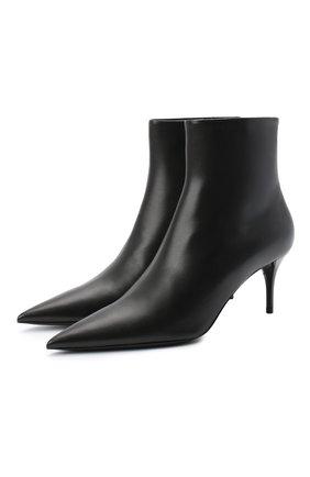 Женские кожаные ботильоны lexi SAINT LAURENT черного цвета, арт. 620158/1N800 | Фото 1