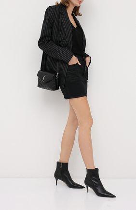 Женские кожаные ботильоны lexi SAINT LAURENT черного цвета, арт. 620158/1N800 | Фото 2