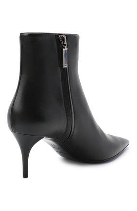 Женские кожаные ботильоны lexi SAINT LAURENT черного цвета, арт. 620158/1N800   Фото 4