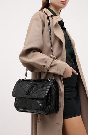 Женская сумка niki SAINT LAURENT черного цвета, арт. 633158/0EN04   Фото 2