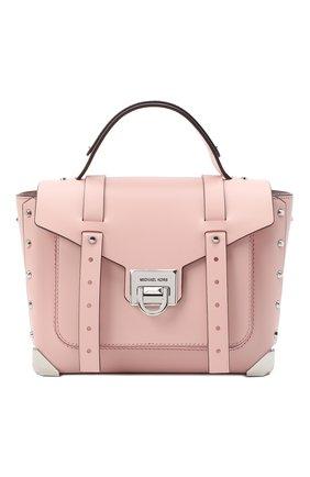 Женская сумка manhattan medium MICHAEL MICHAEL KORS розового цвета, арт. 30T9SNCS6L | Фото 1