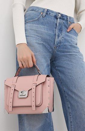 Женская сумка manhattan medium MICHAEL MICHAEL KORS розового цвета, арт. 30T9SNCS6L | Фото 2