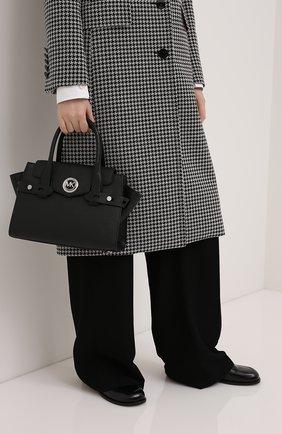 Женская сумка carmen small MICHAEL MICHAEL KORS черного цвета, арт. 30S0SNMS0L   Фото 2