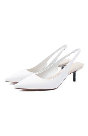 Женская кожаные туфли page MICHAEL MICHAEL KORS белого цвета, арт. 40S0PAMG2L   Фото 1