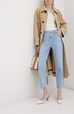 Женская кожаные туфли page MICHAEL MICHAEL KORS белого цвета, арт. 40S0PAMG2L   Фото 2