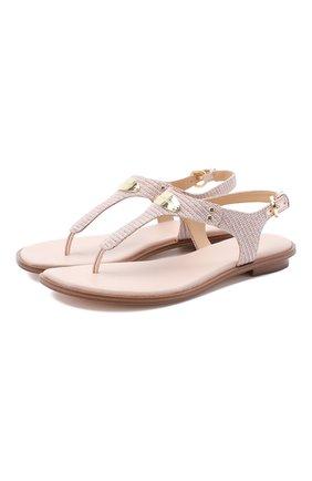 Женские текстильные сандалии MICHAEL MICHAEL KORS розового цвета, арт. 40S0MKFA3D | Фото 1