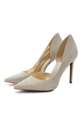 Женская текстильные туфли MICHAEL MICHAEL KORS золотого цвета, арт. 40S0KEHP1D   Фото 1