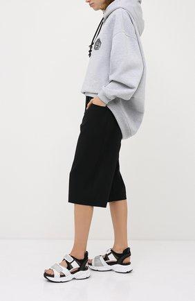 Женские текстильные сандалии harvey MICHAEL MICHAEL KORS черного цвета, арт. 40S0HVFA1B | Фото 2