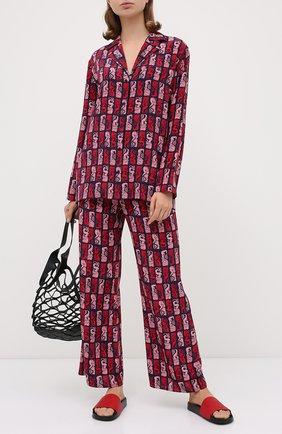 Женские кожаные шлепанцы MICHAEL MICHAEL KORS красного цвета, арт. 40S0GMFA1L   Фото 2