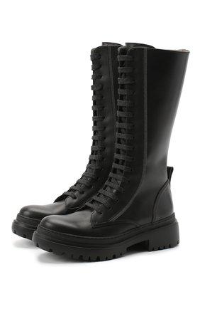 Женские кожаные сапоги BRUNELLO CUCINELLI черного цвета, арт. MZBSC1893P | Фото 1