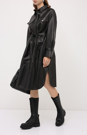 Женские кожаные сапоги BRUNELLO CUCINELLI черного цвета, арт. MZBSC1893P | Фото 2