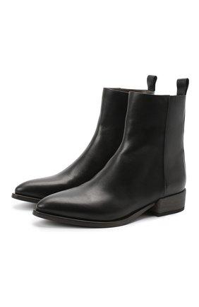 Женские кожаные ботинки BRUNELLO CUCINELLI черного цвета, арт. MZSLC1894P | Фото 1