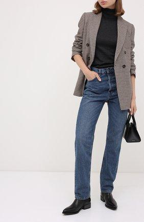 Женские кожаные ботинки BRUNELLO CUCINELLI черного цвета, арт. MZSLC1894P | Фото 2