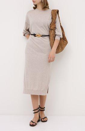 Женское кашемировое платье BRUNELLO CUCINELLI светло-бежевого цвета, арт. M2E811A90P | Фото 2