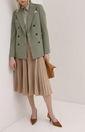 Женский шерстяной жакет BRUNELLO CUCINELLI зеленого цвета, арт. MA1718869P | Фото 2