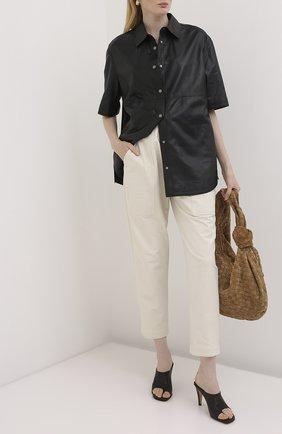 Женские хлопковые брюки BRUNELLO CUCINELLI белого цвета, арт. MP827P7374   Фото 2