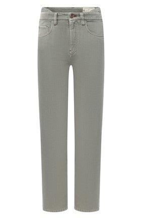 Женские джинсы BRUNELLO CUCINELLI зеленого цвета, арт. MP93PP5582 | Фото 1