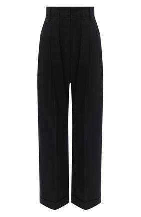 Женские шерстяные брюки BRUNELLO CUCINELLI черного цвета, арт. MPW07P7355   Фото 1