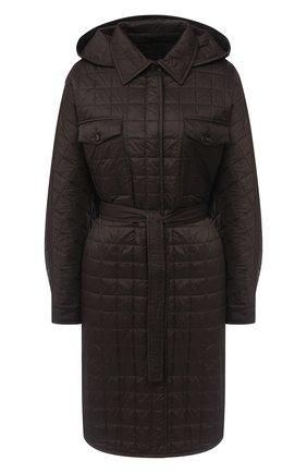Женское пуховое пальто BRUNELLO CUCINELLI коричневого цвета, арт. MR4059535P   Фото 1