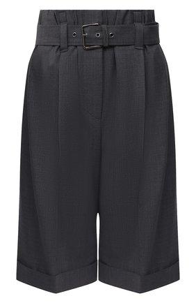 Женские шерстяные шорты BRUNELLO CUCINELLI темно-серого цвета, арт. MPW07P7389 | Фото 1