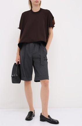 Женские шерстяные шорты BRUNELLO CUCINELLI темно-серого цвета, арт. MPW07P7389 | Фото 2