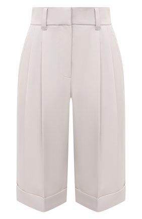 Женские шерстяные шорты BRUNELLO CUCINELLI кремвого цвета, арт. MP171P7322 | Фото 1