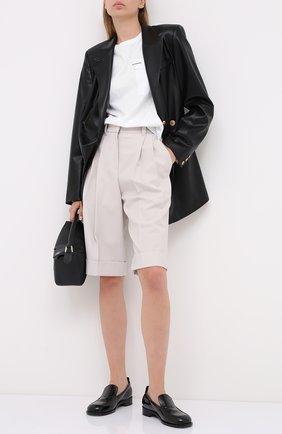 Женские шерстяные шорты BRUNELLO CUCINELLI кремвого цвета, арт. MP171P7322 | Фото 2