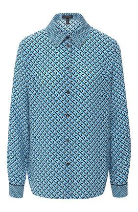 Женская шелковая рубашка ESCADA голубого цвета, арт. 5033900 | Фото 1