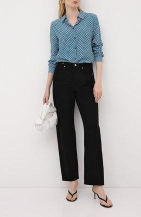 Женская шелковая рубашка ESCADA голубого цвета, арт. 5033900 | Фото 2
