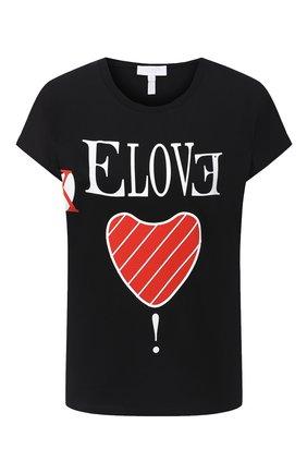 Женская хлопковая футболка ESCADA SPORT черного цвета, арт. 5033829 | Фото 1