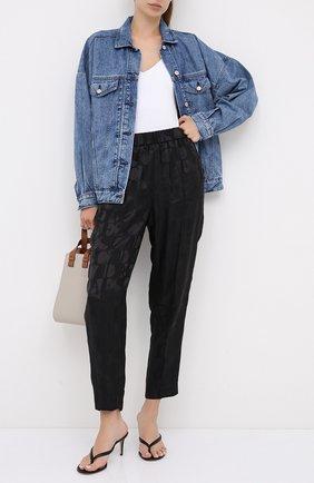 Женские брюки из вискозы ESCADA черного цвета, арт. 5033723 | Фото 2