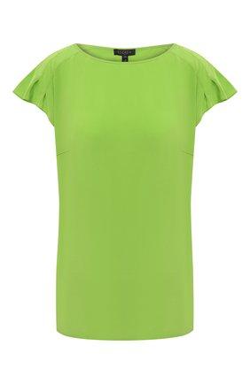 Женский шелковый топ ESCADA зеленого цвета, арт. 5033644 | Фото 1