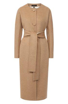 Женское пальто из шерсти и кашемира ESCADA бежевого цвета, арт. 5033592 | Фото 1